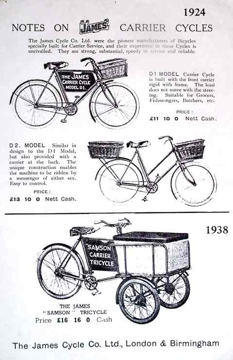 1924 James Carrier Cycles