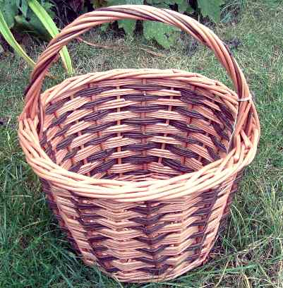 basket with alternating colours
