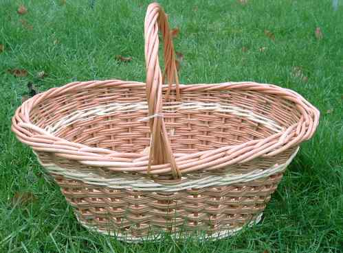 Picture of an Oval Shopping basket with dipped sides