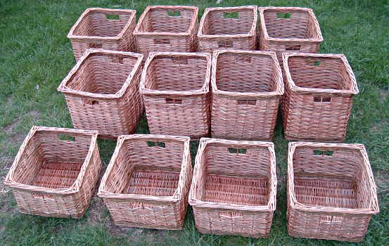 Storage baskets made to order