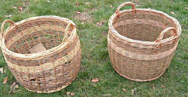 Basket made as reproduction of old worn out basket
