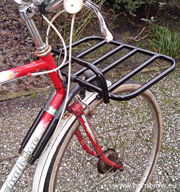 front rack fitted to bicycle