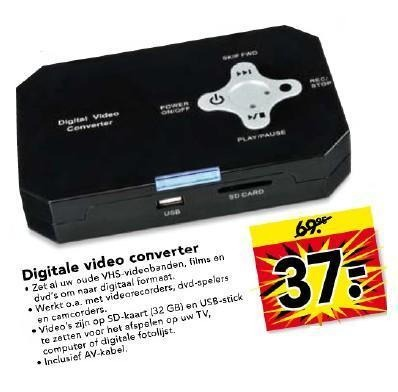 A Year Or So Ago I Noticed That The Dutch Store Blokker Was Selling Digital Video Converter Which Promised Easy Transfer Of Our Old VHS And 8mm Family