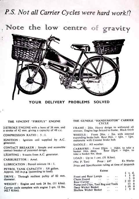 Gundle handymotor carrier bike