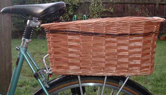 Large rear rectangular bike basket