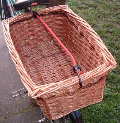 Large rear rectangular bicycle basket