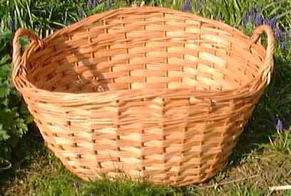 Oval Laundry basket, click for a larger picture