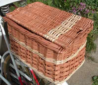 Picture of rear rectangular bike basket