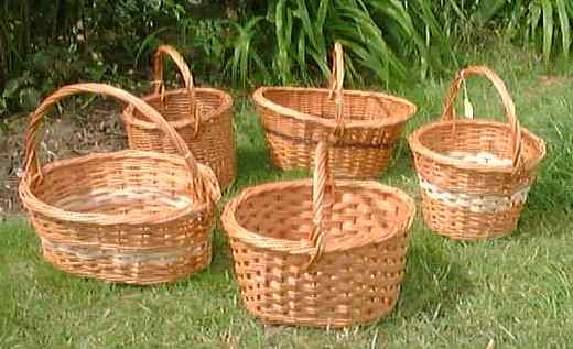 Pictures of a variety of shopping baskets